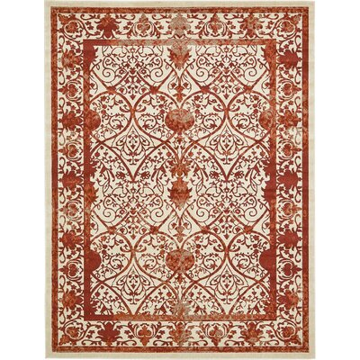 Castlewood Terracotta Area Rug Rug Size: Rectangle 9 x 12