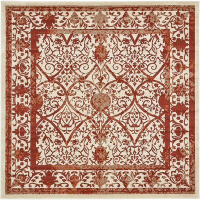 Agnes Lake Terracotta Area Rug Rug Size: Square 8
