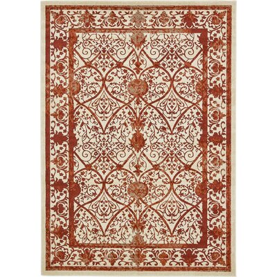 Mya Terracotta Area Rug Rug Size: Rectangle 7 x 10