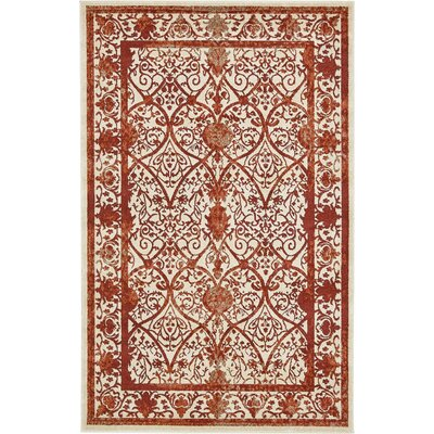 Castlewood Terracotta Area Rug Rug Size: Rectangle 5 x 8