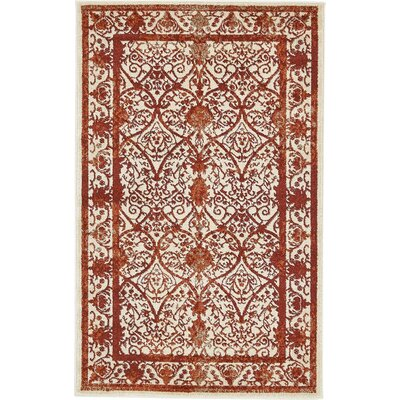 Mya Terracotta Area Rug Rug Size: Rectangle 3 x 5