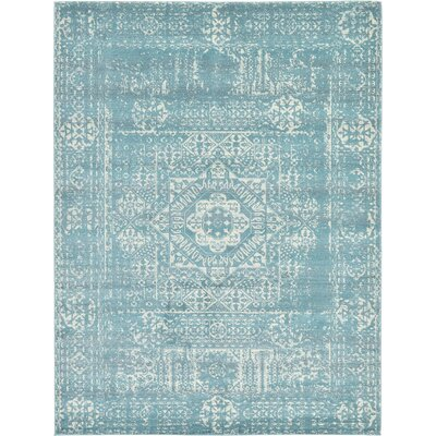 Ainslie Brook Light Blue Area Rug Rug Size: 9 x 12