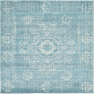 Ainslie Brook Light Blue Area Rug Rug Size: Square 8'4