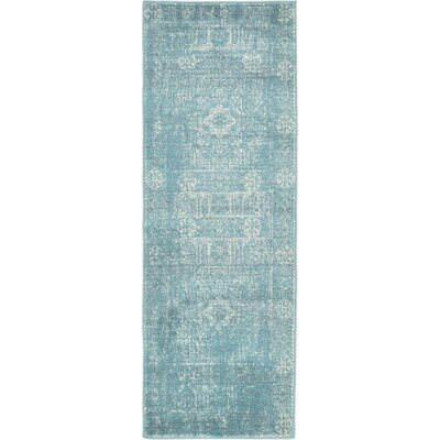 Ainslie Brook Light Blue Area Rug Rug Size: Runner 22 x 6