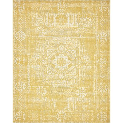 Ainslie Brook Yellow Area Rug Rug Size: 8' x 10'