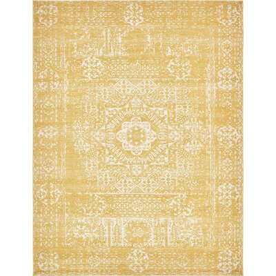 Ainslie Brook Yellow Area Rug Rug Size: 9' x 12'