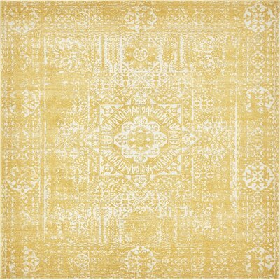 Ainslie Brook Yellow Area Rug Rug Size: Square 8'4