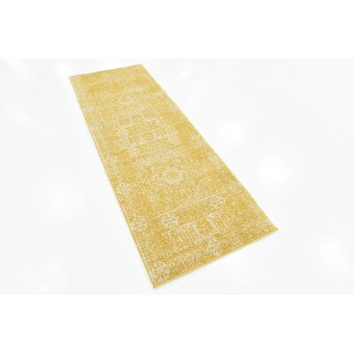 Ainslie Brook Yellow Area Rug Rug Size: Runner 22 x 6