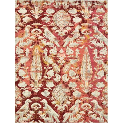 Roshan Red Area Rug Rug Size: 9' x 12'