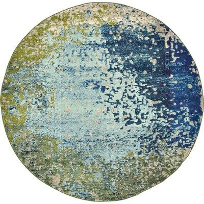 Roshan Blue Area Rug Rug Size: Round 8'