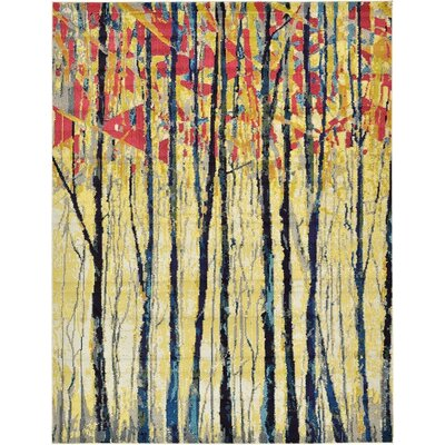 Liz Yellow Area Rug Rug Size: Rectangle 9 x 12