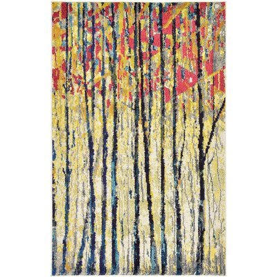 Roshan Yellow Area Rug Rug Size: 33 x 53