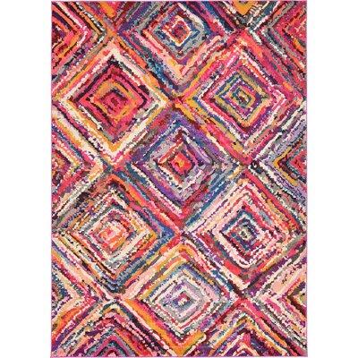 Roshan Pink/Purple Area Rug Rug Size: 5 x 8