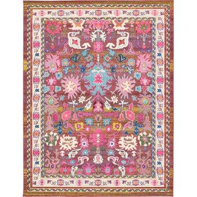 Roshan Pink Area Rug Rug Size: 9' x 12'
