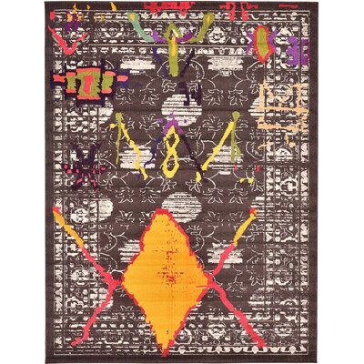 Sharma Brown Area Rug Rug Size: 9 x 12
