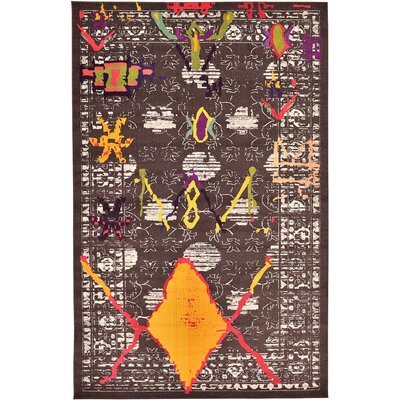 Sharma Brown Area Rug Rug Size: 10'6