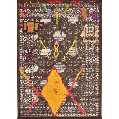 Sharma Brown Area Rug Rug Size: 7' x 10'