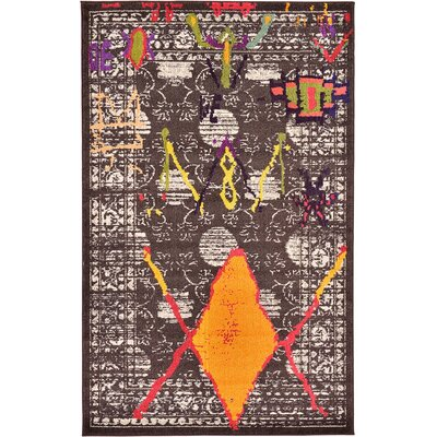 Sharma Brown Area Rug Rug Size: 5 x 8