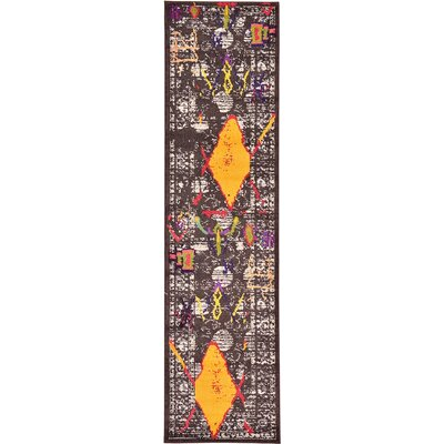 Sharma Brown Area Rug Rug Size: Runner 27 x 10