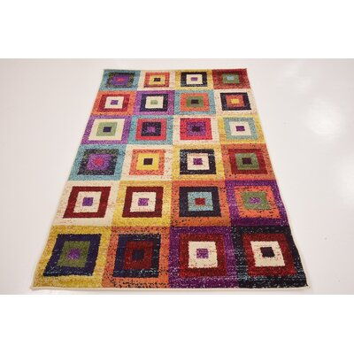 Lionel Blue/Purple Area Rug Rug Size: Rectangle 3'3