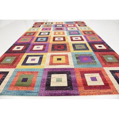 Lionel Blue/Purple Area Rug Rug Size: Rectangle 106 x 165