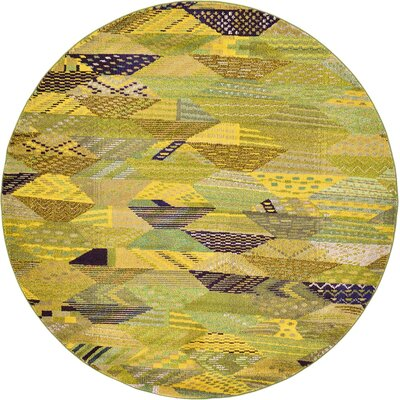 Roshan Green Area Rug Rug Size: Round 8