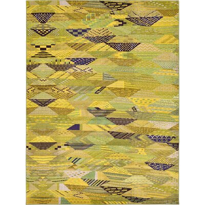 Roshan Green Area Rug Rug Size: 33 x 53