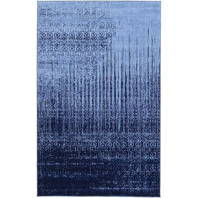 Dungan Blue Area Rug Rug Size: Rectangle 8 x 10