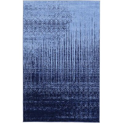Kadar Blue Area Rug Rug Size: 4 x 6