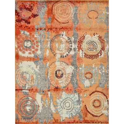 Hayes Orange Area Rug Rug Size: 7 x 10