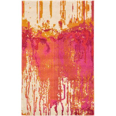 Colella Pink Area Rug Rug Size: 33 x 53