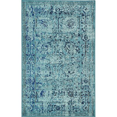 Charleena Blue Area Rug Rug Size: Rectangle 33 x 53