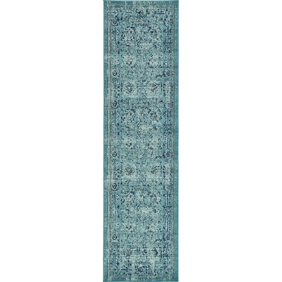 Charleena Blue Area Rug Rug Size: Round 6