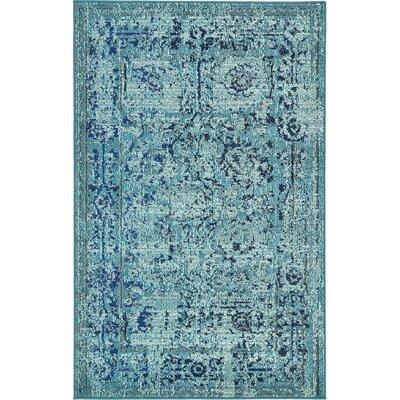 Charleena Blue Area Rug Rug Size: 33 x 53
