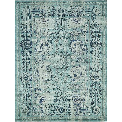 Charleena Blue Area Rug Rug Size: Rectangle 8 x 8