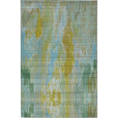 Roshan Turquoise Area Rug Rug Size: 106 x 165