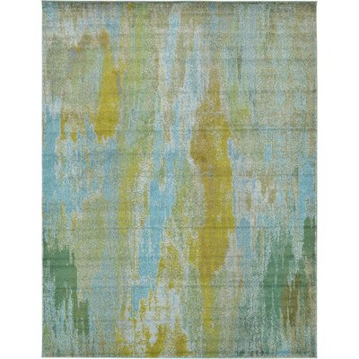 Roshan Turquoise Area Rug Rug Size: 10 x 13
