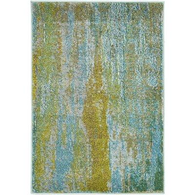 Roshan Turquoise Area Rug Rug Size: 22 x 3