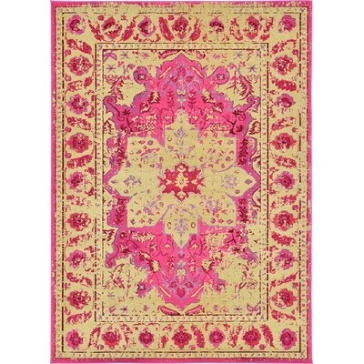 Killington Pink/Beige Area Rug Rug Size: Rectangle 7 x 10