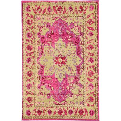Killington Pink/Beige Area Rug Rug Size: Rectangle 5 x 8