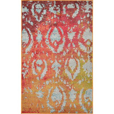 Aquarius Rust Red Area Rug Rug Size: 9 x 12