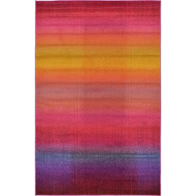 Aquarius Multi Area Rug Rug Size: 5 x 8