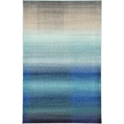 Applecroft Blue Fade Area Rug Rug Size: Round 8