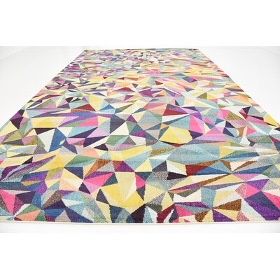 Aquarius Yellow/Blue Area Rug Rug Size: Rectangle 106 x 165