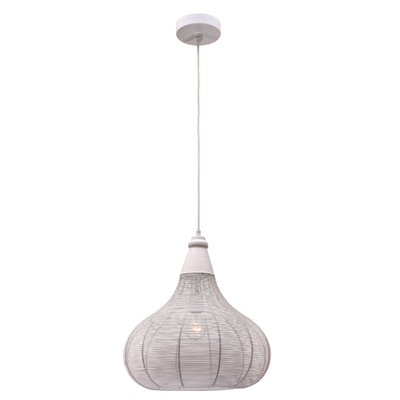 Aniyah 1-Light Pendant Finish: White
