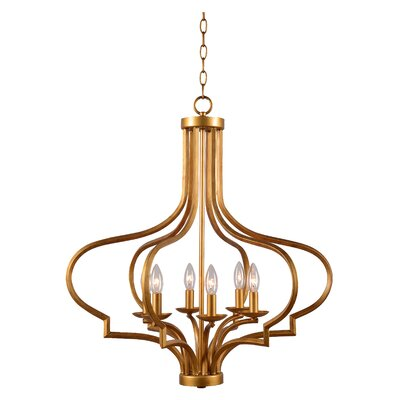 Soussi 6-Light Foyer Pendant Finish: Gold