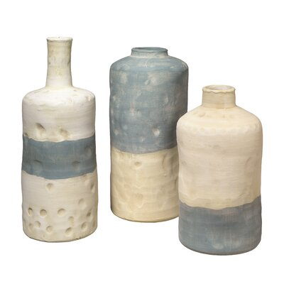 Novelty 3 Piece Ceramic Vessels Vase Set