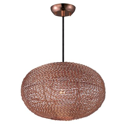 Camile 1-Light Oval Shade Globe Pendant Finish: Copper