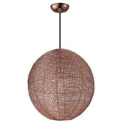Camile 1-Light Metal Globe Pendant Finish: Copper