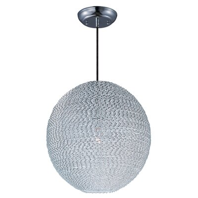 Camile 1-Light Metal Globe Pendant Finish: Polished Chrome